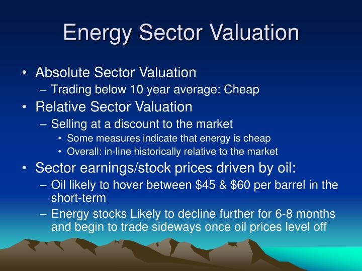 Energy Sector Valuation