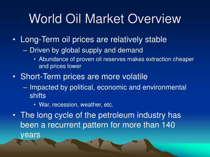 World Oil Market Overview