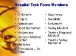 hospital task force members