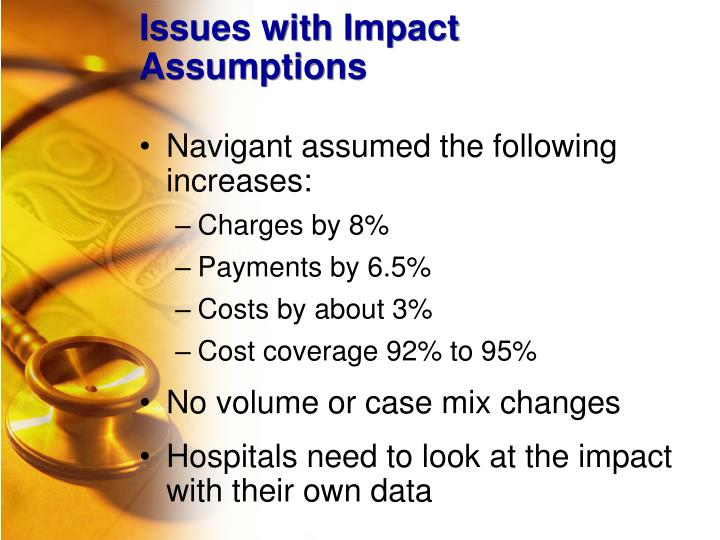 Issues with Impact Assumptions