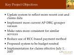 key project objectives