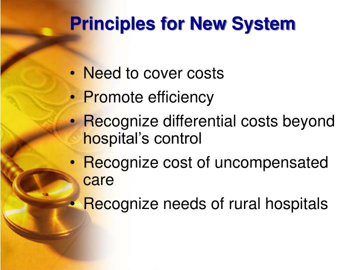 Principles for New System
