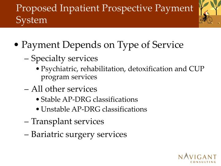 Proposed Inpatient Prospective Payment System