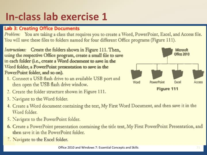 In-class lab exercise 1