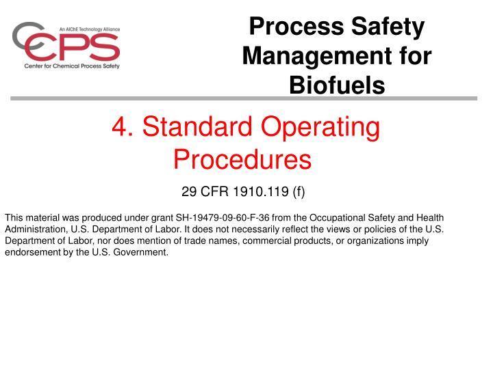 4. Standard Operating Procedures