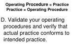 operating procedure practice practice operating procedure