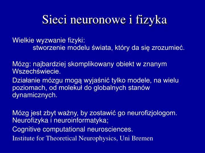 Sieci neuronowe i fizyka