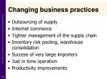 changing business practices