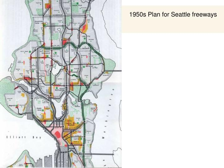 1950s Plan for Seattle freeways