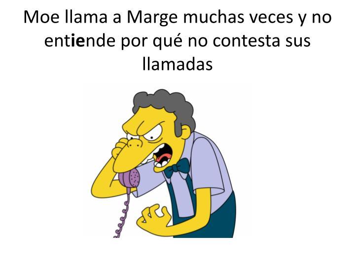 Moe llama a Marge
