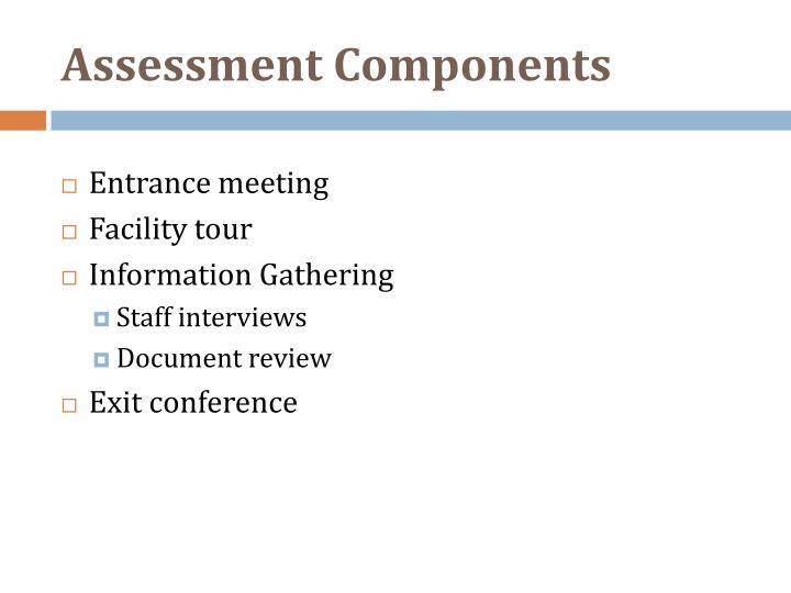 Assessment Components