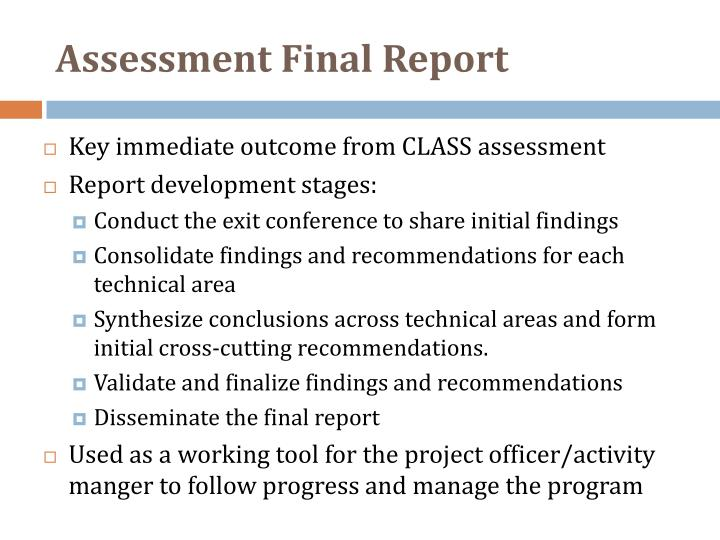 Assessment Final Report