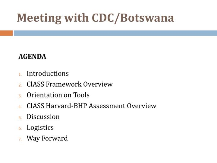 Meeting with cdc botswana