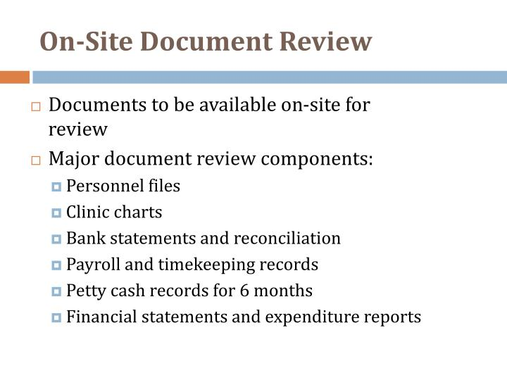 On-Site Document Review