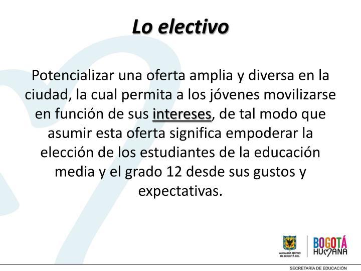 Lo electivo