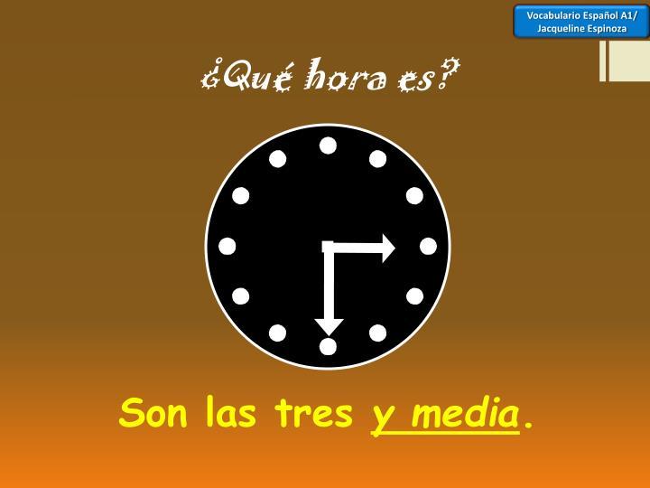 Vocabulario Español A1/