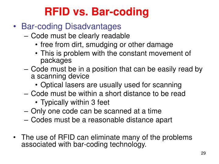 RFID vs. Bar-coding