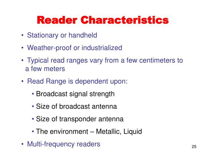 Reader Characteristics