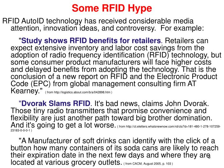 Some rfid hype