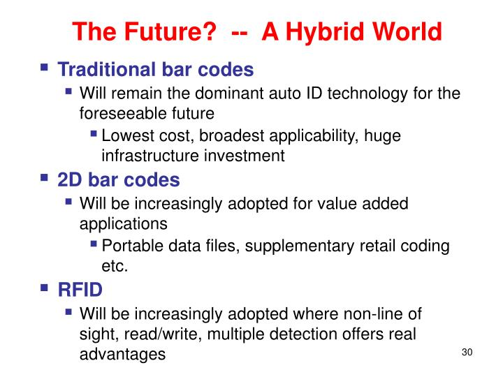 The Future?  --  A Hybrid World