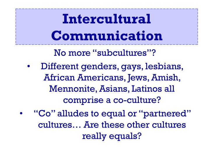 """No more """"subcultures""""?"""