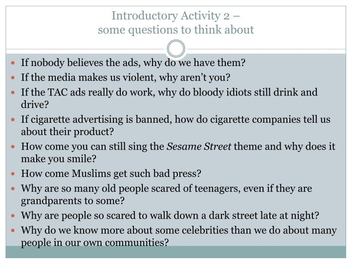 Introductory Activity 2 –