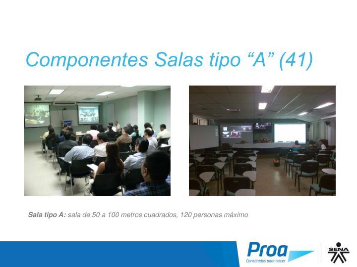 """Componentes Salas tipo """"A"""" (41)"""