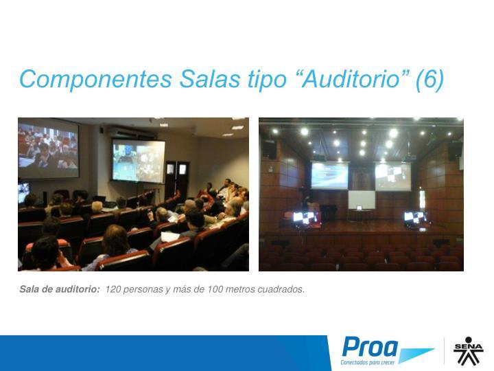 """Componentes Salas tipo """"Auditorio"""" (6)"""