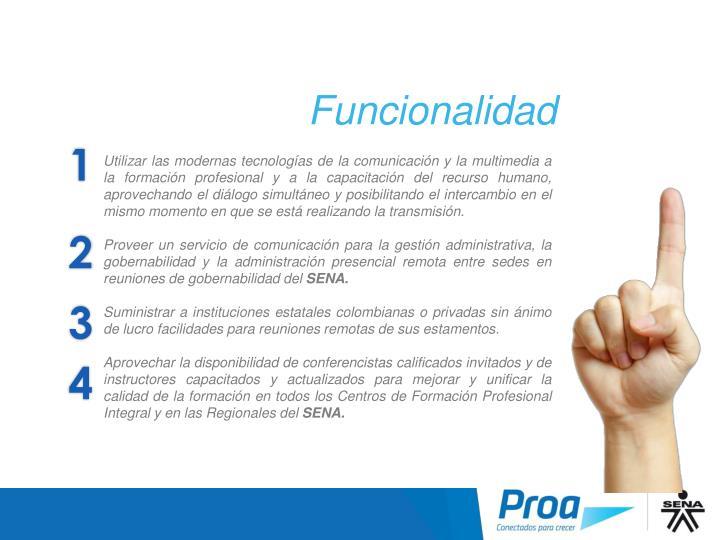 Funcionalidad I