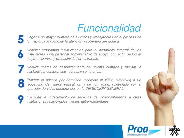 Funcionalidad II