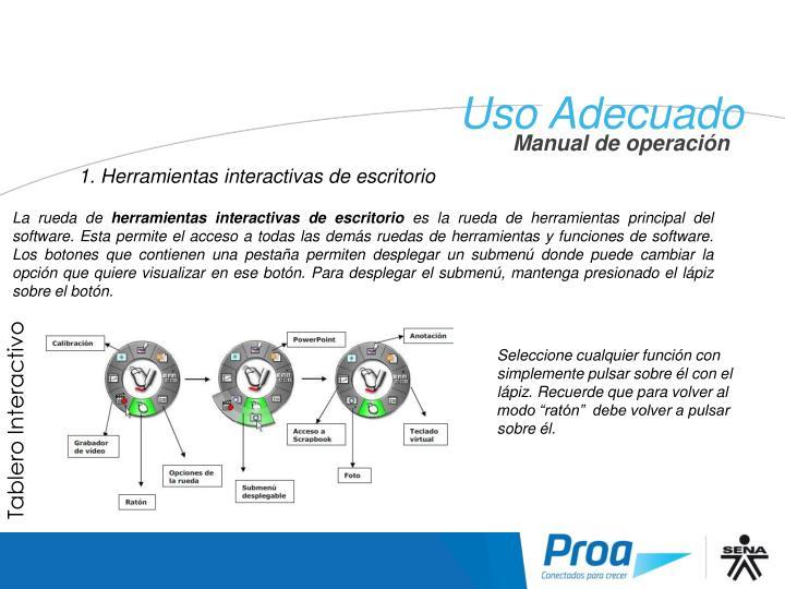 UA: Herramientas