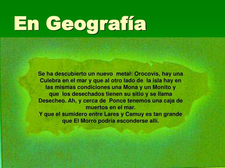 En Geografía