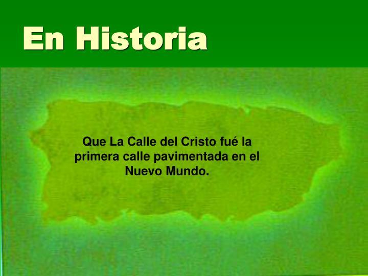 En Historia
