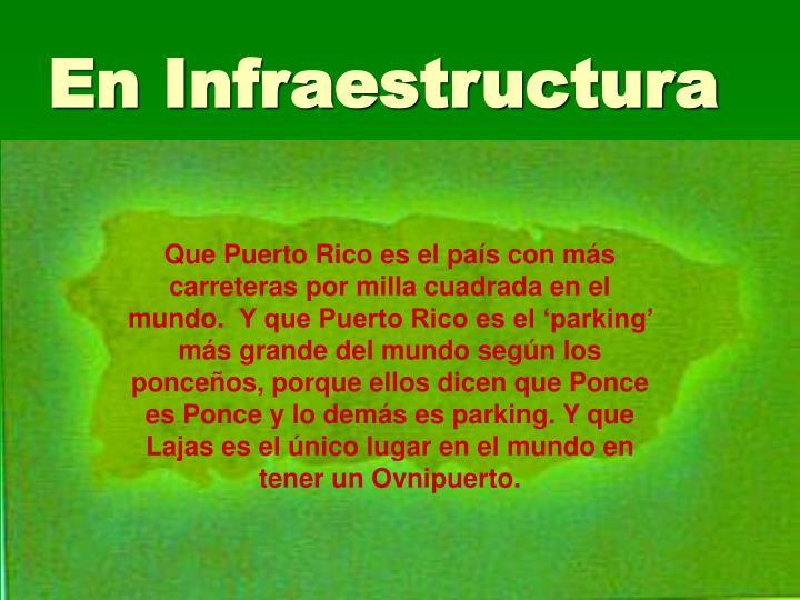En Infraestructura