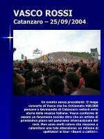 vasco rossi catanzaro 25 09 2004