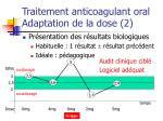 traitement anticoagulant oral adaptation de la dose 2