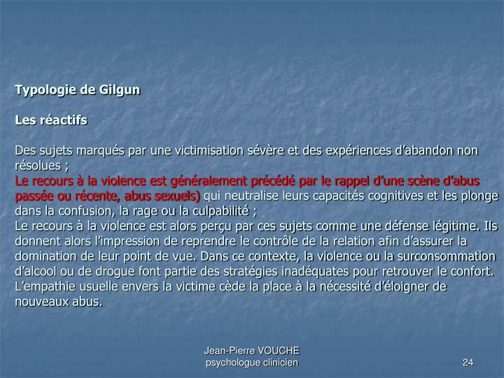 Typologie de Gilgun