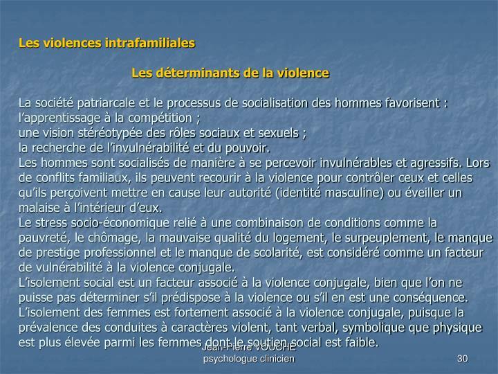 Les violences intrafamiliales