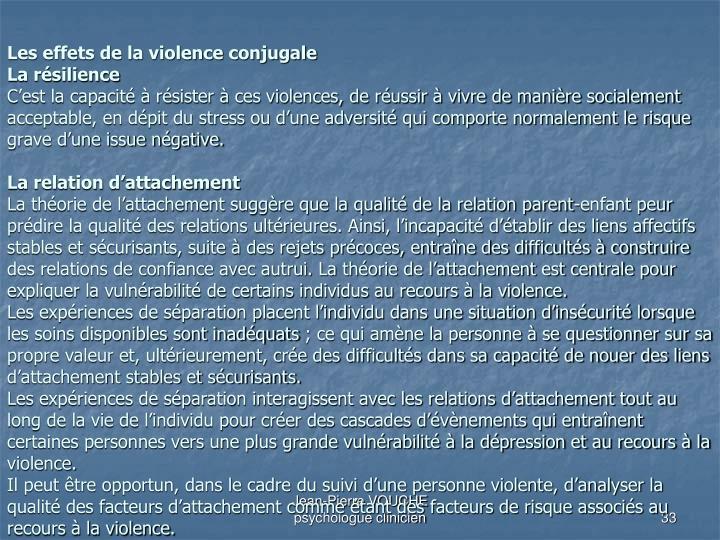 Les effets de la violence conjugale