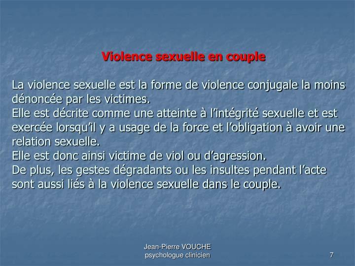 Violence sexuelle en couple