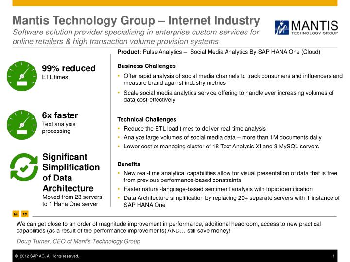 Mantis Technology Group – Internet Industry