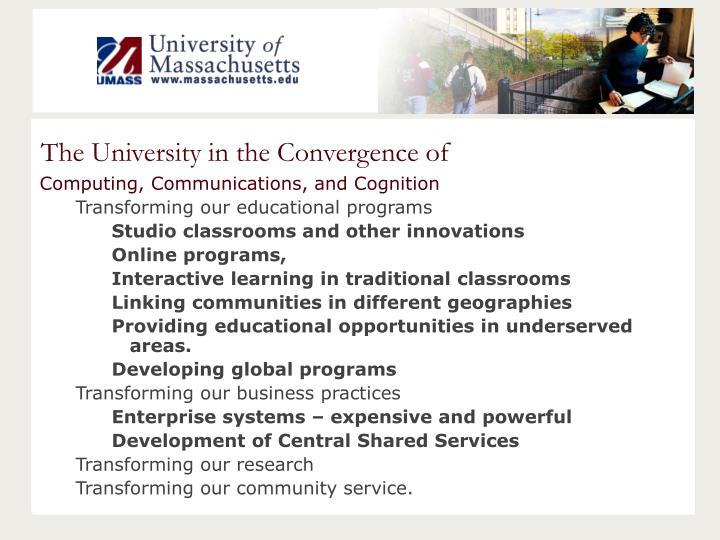 The University in the Convergence of