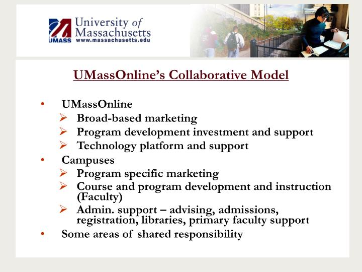 UMassOnline's Collaborative Model
