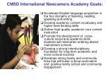 cmsd international newcomers academy goals
