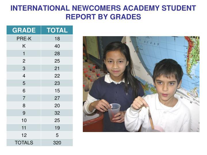 INTERNATIONAL NEWCOMERS ACADEMY STUDENT
