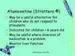 atomoxetine strattera