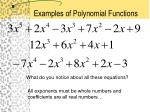 examples of polynomial functions
