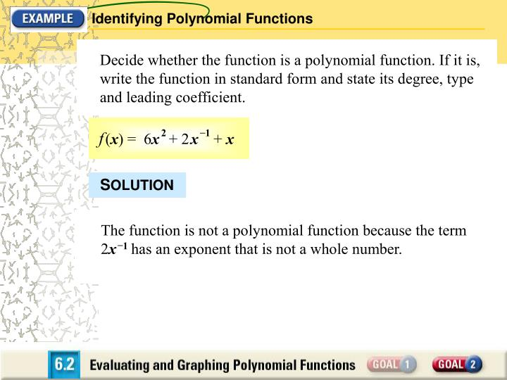 Identifying Polynomial Functions
