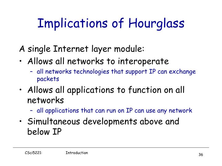 Implications of Hourglass