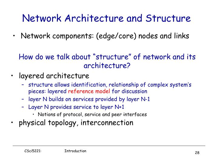 Network components: (edge/core) nodes and links